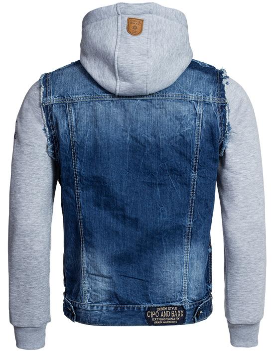 cipo baxx herren jeansjacke jeans bergangs jacke sweat. Black Bedroom Furniture Sets. Home Design Ideas