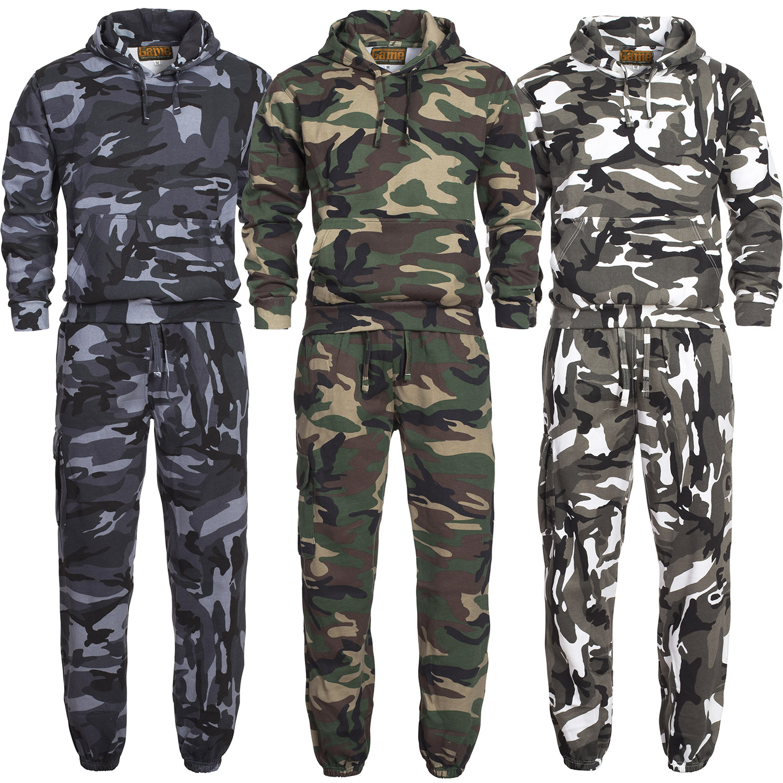 camouflage jogger jogging freizeit sport trainings anzug. Black Bedroom Furniture Sets. Home Design Ideas