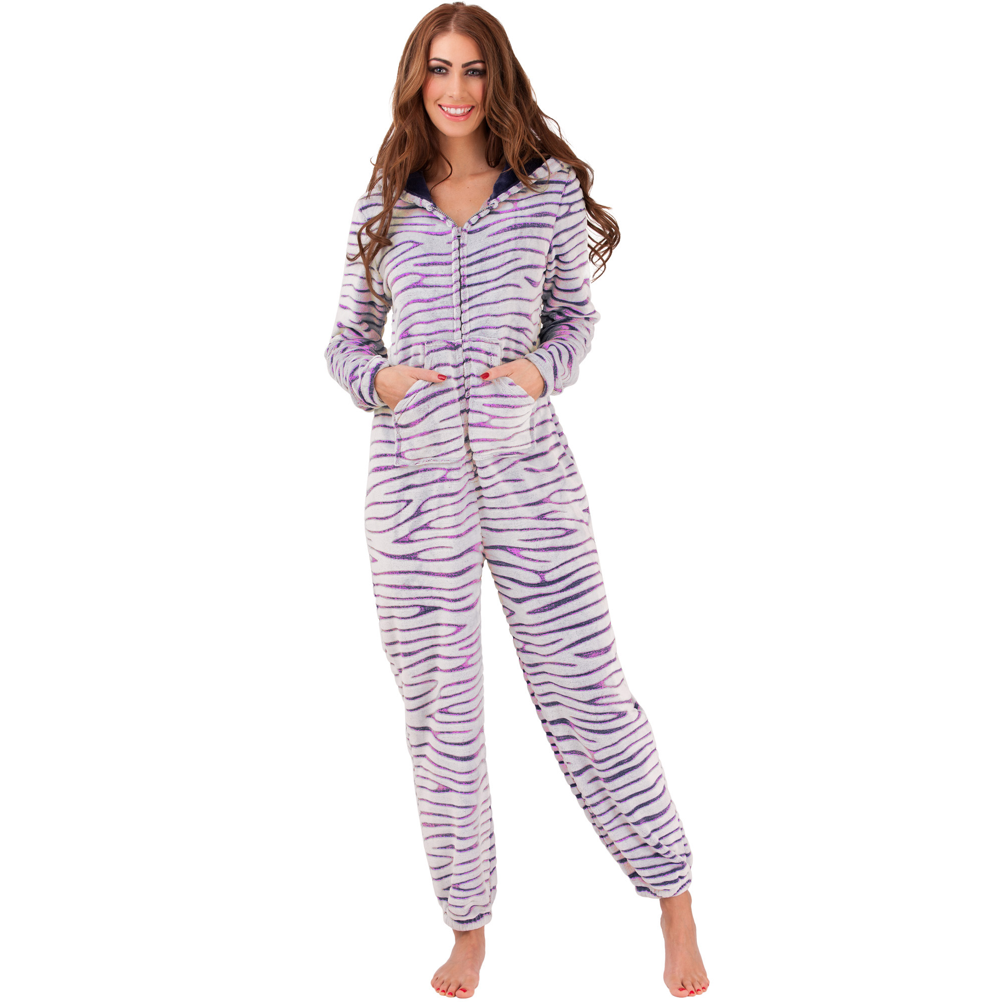 womens jumpsuit overalls onesie pyjama onesie onesie loungewear jogging new ebay. Black Bedroom Furniture Sets. Home Design Ideas