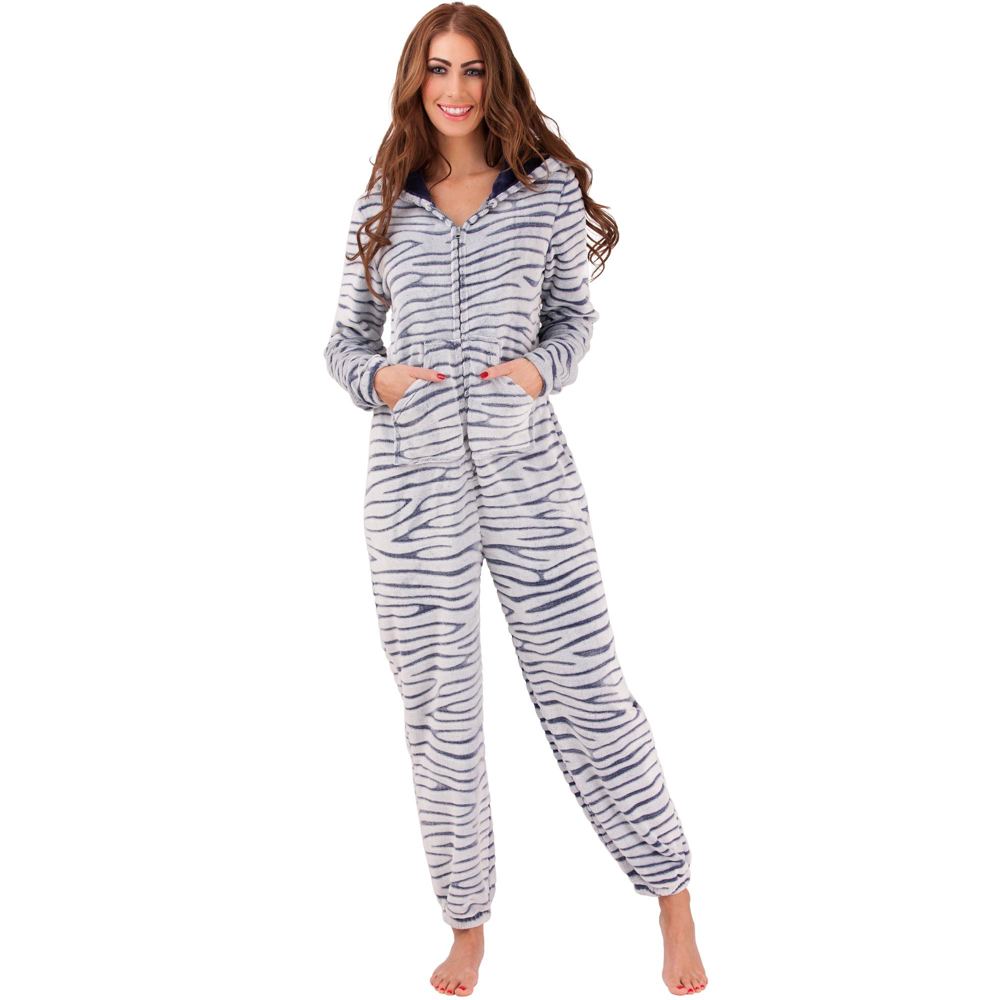 damen jumpsuit overall strampler pyjama einteiler onesie. Black Bedroom Furniture Sets. Home Design Ideas