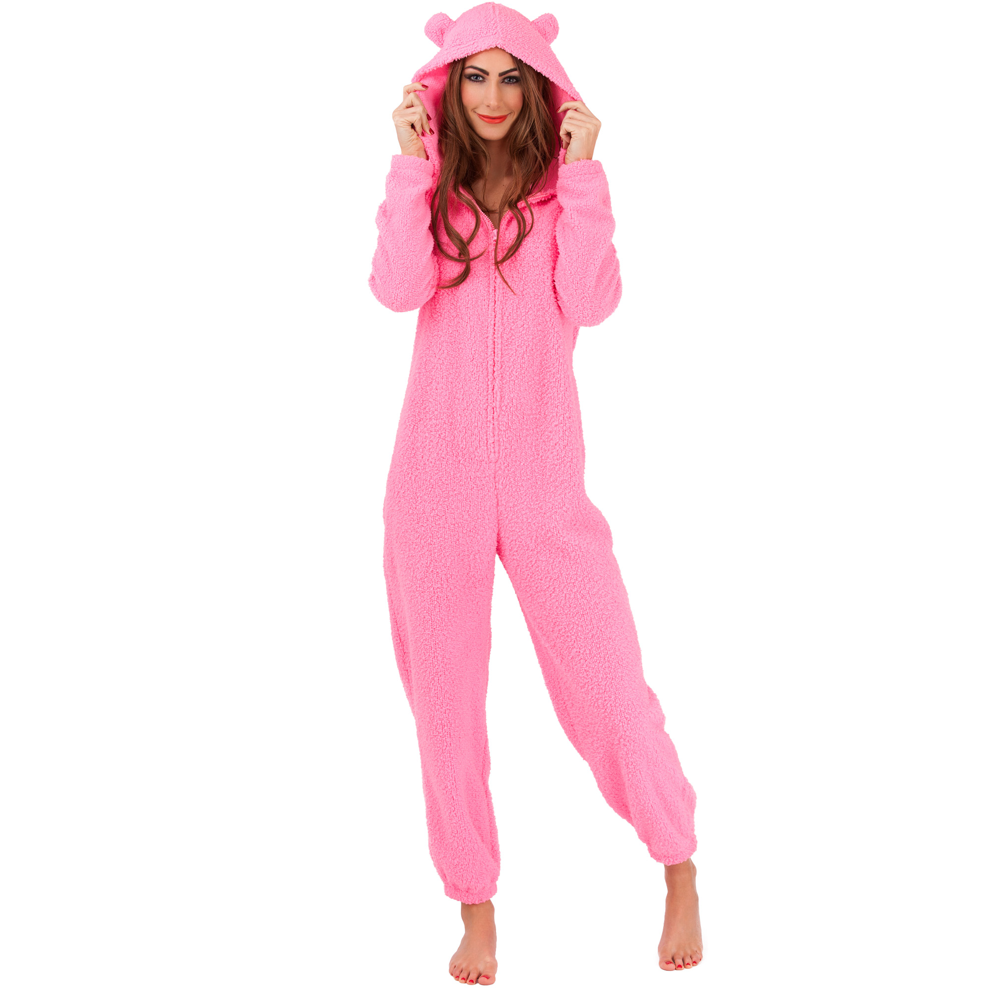 damen jumpsuit overall strampler pyjama einteiler onesie. Black Bedroom Furniture Sets. Home Design Ideas